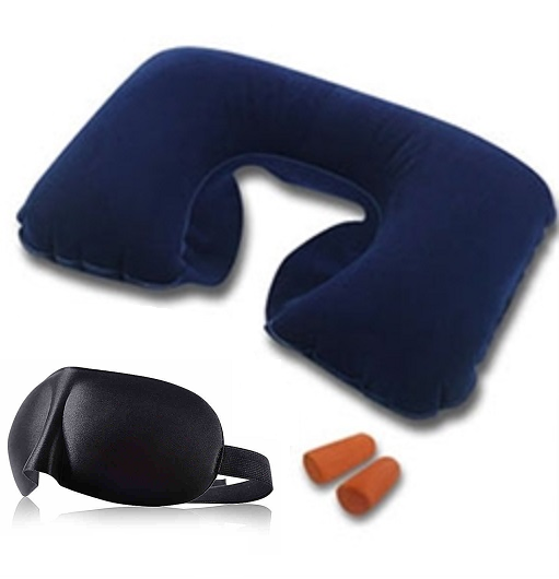 4c28d26f7 Travel Comfort Kit 2 (Air Pillow + 3D Foam Eye Mask + Earplug ...