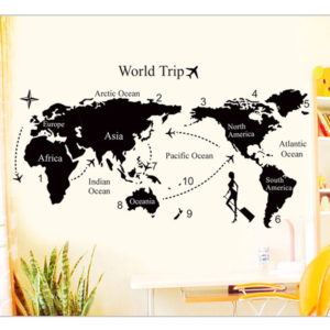 WORLD TRIP TRAVEL MAP