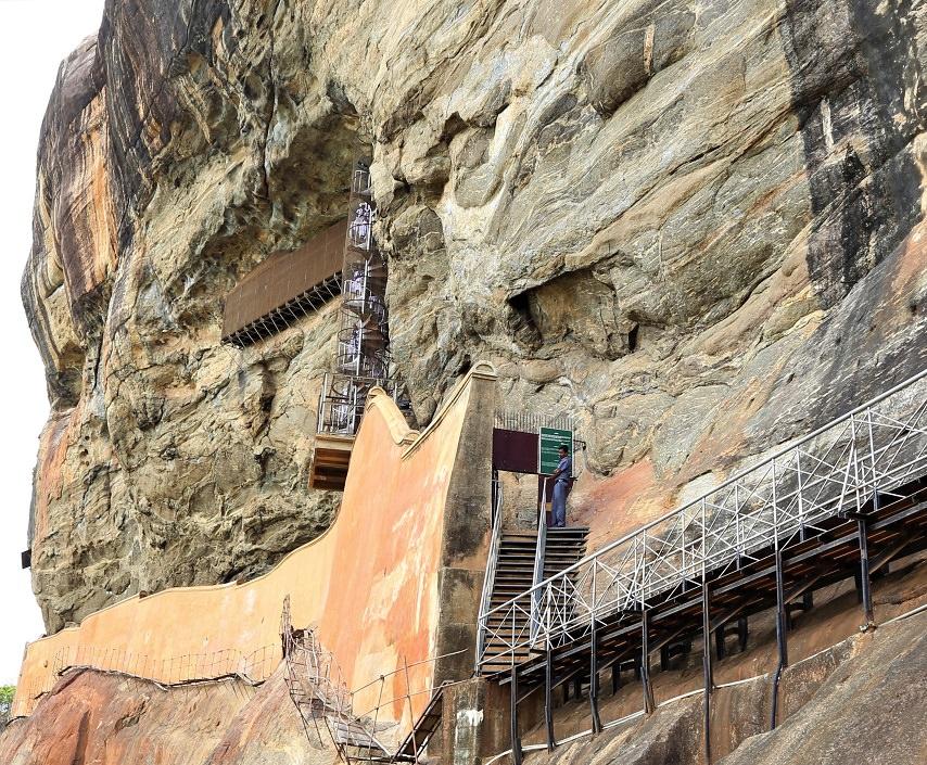 Sigiriya Lion Rock - Mirror Wall and Paintings - beingatraveler.com